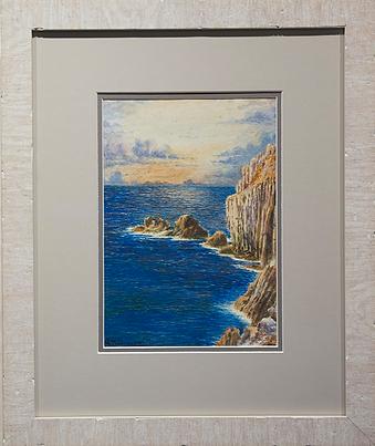 скалы выходящие на море | rocks leading out to sea | N. Baines | 1911 | seascape | marine landscape | Морской пейзаж | art.vin | Artmagic | Артмагия