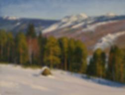 пейзаж со стогом | Гора | Алексей Петриков | Alex Petrikov | Landscape | пейзаж | природа | art.vin | Artmagic | Артмагия