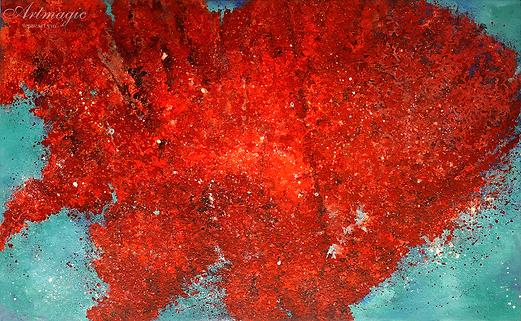 Красные листья | Михаил Балавадзе | Mihail Balavadze | грузинский худодник | купить картину в Москве | Артмагия | Artmagic | art.vin