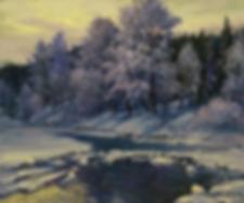замерзает | зима | Алексей Петриков | Alex Petrikov | Landscape | пейзаж | природа | art.vin | Artmagic | Артмагия
