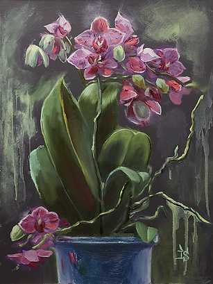 Орхидеи | картина с цветами | Ирина Сергеева | Irina Sergeeva | Still life | Натюрморт | art.vin | Artmagic | Артмагия