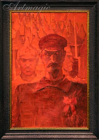 Рыцари революции | красная армия | дзержинский | Фомин  | солдаты в живописи | Portrait | портрет | art.vin | Artmagic | Артмагия