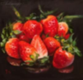 клубника | ягоды | Ирина Сергеева | Irina Sergeeva | Still life | Натюрморт | art.vin | Artmagic | Артмагия