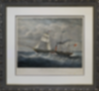 литография | XIX century | XIX век | British queen | seascape | marine landscape | Морской пейзаж | art.vin | Artmagic | Артмагия