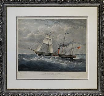 литография | XIX century | XIX век | British queen | seascape | marine landscape | Морской пейзаж | art.vin | Artmagic | Артмагия