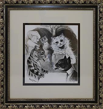 В баре | Louis Wain | Cat | Котики | art.vin | Artmagic | Артмагия
