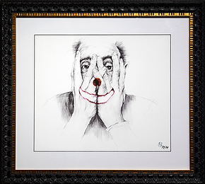 Клоун  | Clown | Саймон Прадес | Simon Prades | Portrait | портрет | art.vin | Artmagic | Артмагия