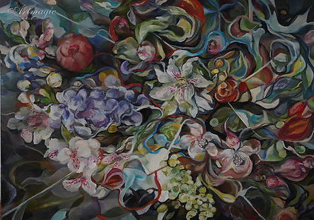 симфония букета  | натюрморт | Виктория Верхолазова | Viktoriya Verholazova | Landscape | абстракция | art.vin | Artmagic | Артмагия