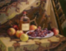 натюрморт с коньяком  | коньякс фруктами  | картина с натюрмортом | Алексей Петриков | Alex Petrikov | Landscape | пейзаж | природа | art.vin | Artmagic | Артмагия