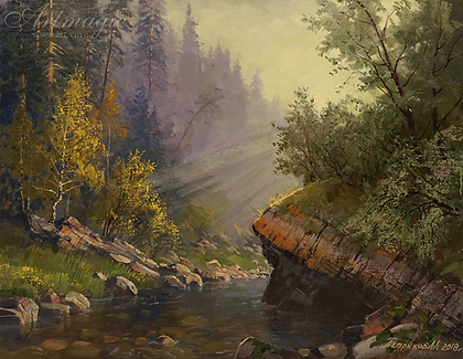 Утренний свет | река | Алексей Петриков | Alex Petrikov | Landscape | пейзаж | природа | art.vin | Artmagic | Артмагия