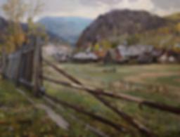 Уральская деревня | картина с пейзажем | Алексей Петриков | Alex Petrikov | Landscape | пейзаж | природа | art.vin | Artmagic | Артмагия
