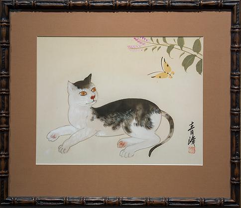 Отдыхающий кот | Cat | Котики | art.vin | Artmagic | Артмагия