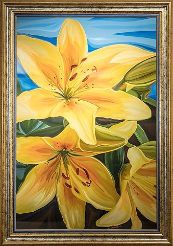 Здесь вам не цветочки | лилии | Василий Сидорин | Vasily Sidorin | Still life | Натюрморт | art.vin | Artmagic | Артмагия