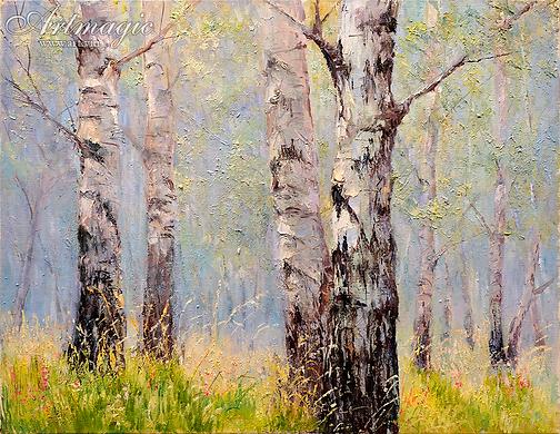 Утро    Ирина Поцелуева   купить картину маслом   пейзаж   купить пейзаж   купить картину в москве   Артмагия   Artmagic   artvin