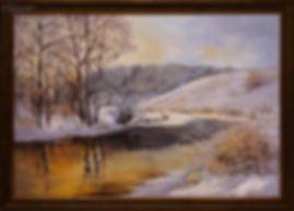 Зимний вечер | Ирина Поцелуева | купить картину маслом | пейзаж | купить пейзаж | купить картину в москве | Артмагия | Artmagic | artvin