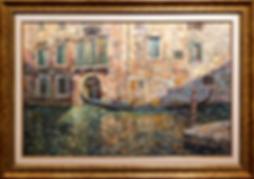 Венецианская рапсодия проулка по каналам венеции  | Антон Колоколов | пейзаж | работы художника | кпить картину в Москве | Artmagic | Артмгия | artvin