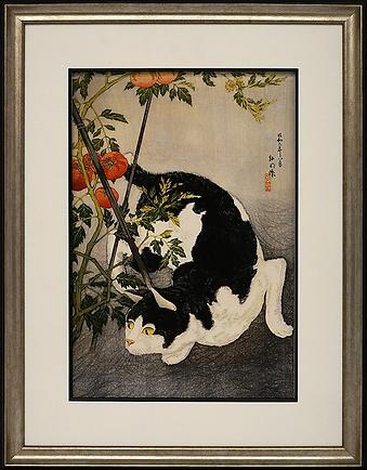 Крадущаяся кошка | Takahashi Shotei Hiroaki | Cat | Котики | art.vin | Artmagic | Артмагия