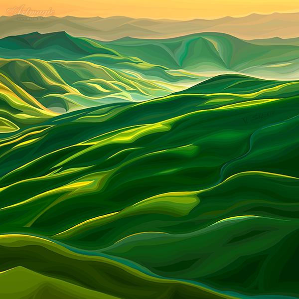 Тоскана | Toscana | Василий Сидорин | VASILY SIDORIN | картина маслом | в багете | sidorin.info | Artmagic | art.vin