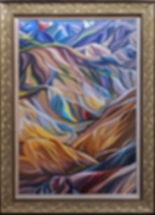 Горы Исландии | Василий Сидорин | Волнизм | Купить пейзаж | купить картину в москве