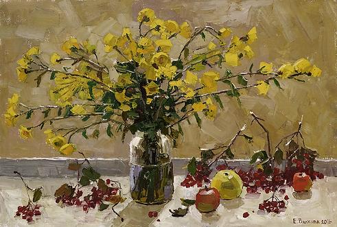 грёзы осени    цветы   Елена Вилков   Натюрморт   купить картину в москве   Артмагия   Artmagic   artvin