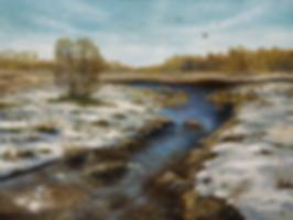Сергей Дорофеев | весенний разлив | новинка месяца | купить картину в москве | купить пейзаж | Artmagic | Артмагия | art.vin