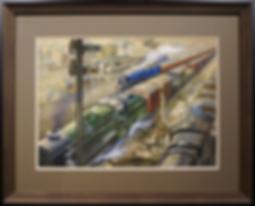 R.I.Rugby train station | Frederick G. Wills | Городской пейзаж | art.vin | Artmagic | Артмагия