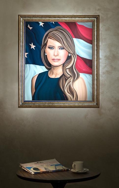 Melania Trump | Василий Сидорин | VASILY SIDORIN | sidorin.info | Artmagic | в интерьере