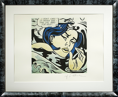 Утопленица | Тонущая девушка | Drowning girl | Рой Лихтенштейн | Roy Lichtenstein | Cuite | Милашки | art.vin | Artmagic | Артмагия