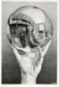 Рука, держащая сферическое зеркало   selfie   селфи   Мауриц Эшер   M.C. Esher   art.vin   Artmagic   Артмагия