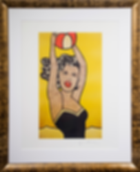 Девушка с мячом | Girl whith the ball | Рой Лихтенштейн | Roy Lichtenstein | Cuite | Милашки | art.vin | Artmagic | Артмагия