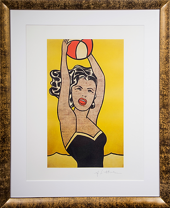 Девушка с мячом | Girl whith the ball | Рой Лихтенштейн | Roy Lichtenstein | Cuite | Милашки | art.vin | Artmagic | Артмагия
