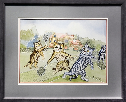 Игра в теннис | Louis Wain | Cat | Котики | art.vin | Artmagic | Артмагия