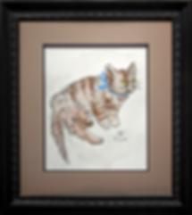 Кот с бубенчиками | Tsuguharu Fujita | Cat | Котики | art.vin | Artmagic | Артмагия