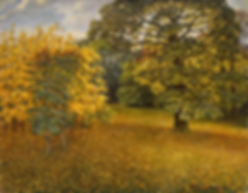 Осень в ботаническом саду | купить пейзаж | Федор Парфенов | купить картину в Москве | купить пейзаж | галерея Москвы | Артмагия | Artmagic | artvin