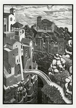 Мост   M.C. Escher   Городской пейзаж   art.vin   Artmagic   Артмагия