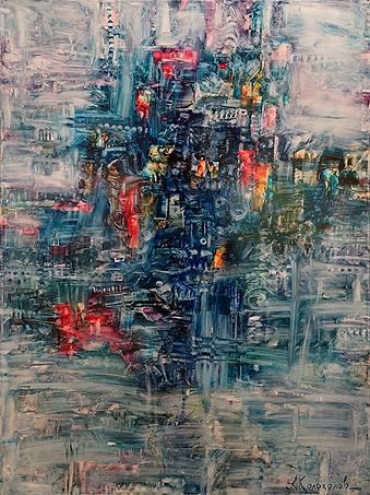 Дождливый вечер | Антон Колоколов | пейзаж | работы художника | кпить картину в Москве | Artmagic | Артмгия | artvin