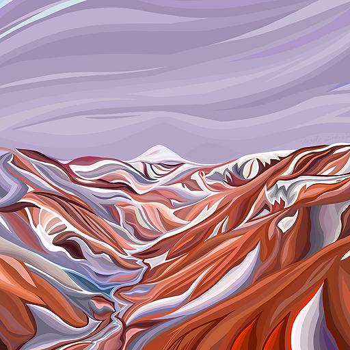 Горы Исландии весной | Василий Сидорин | купить живопись | купить картину | эксклюзив | Artmagic | Артмагия | artvin