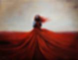 Красный ветер | девушка  | Георгий Махарашвили | George Maharashvili | грузинский худодник | купить картину в Москве | Артмагия | Artmagic | art.vin
