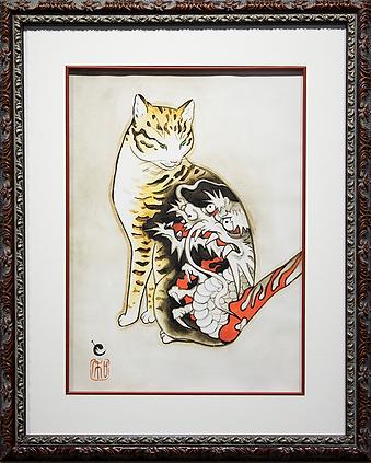 Horitomo | Cat and Dragon | Art.vin | Artmagic | Артмагия