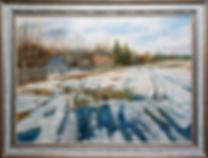 Сергей Дорофеев | первые проталины | новинка месяца | купить картину в москве | купить пейзаж | Artmagic | Артмагия | art.vin