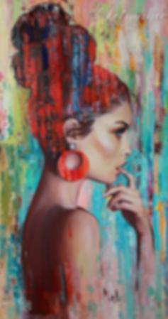 ДевушColor girl | скетч | заказать портрет | Елена Митина | купить картину в Москве | купить картину | галерея Москвы | Артмагия | Artmagic | artvin