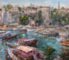 Порт в Анталии  | Антон Колоколов | пейзаж | работы художника | кпить картину в Москве | Artmagic | Артмгия | artvin