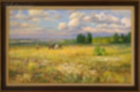 Родные просторы | Викентий Лукиянов | купить картину маслом | новинка месяца | пейзаж | пейзаж купить | купить картину в Москве | Артмагия | Artmagic | art.vin