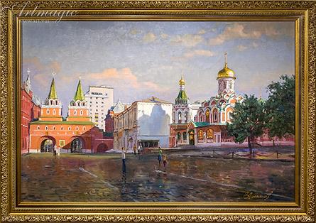 Утро в Москве | Викентий Лукиянов | Виды Москвы | art.vin | Artmagic | Артмагия