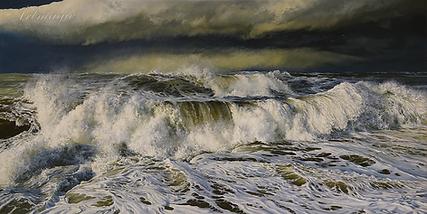 Осенний шторм  | Крестовоздвиженский | морской пейзаж | купить картину море | волны | Артмагия | Artmagic | seascape | vave | art.vin