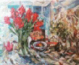 Кубинский букет    НАТЮРМОРТ   Виктория Верхолазова   Viktoriya Verholazova   Landscape   абстракция   art.vin   Artmagic   Артмагия