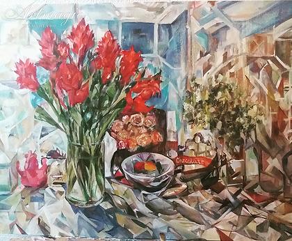 Кубинский букет  | НАТЮРМОРТ | Виктория Верхолазова | Viktoriya Verholazova | Landscape | абстракция | art.vin | Artmagic | Артмагия