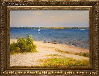 Волжский мотив | Volga motives | Викентий Лукиянов | Vikentiy Lukianov | Landscape | пейзаж | art.vin | Artmagic | Артмагия
