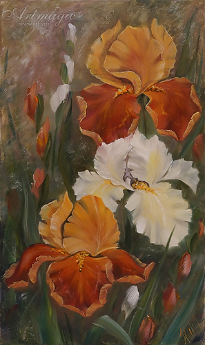 DSC02242 Ирисы в саду | Анна Никифорова | купить картину маслом | натюрморт | натюрморт купить | купить картину в Москве | Артмагия | Artmagic | art.vin