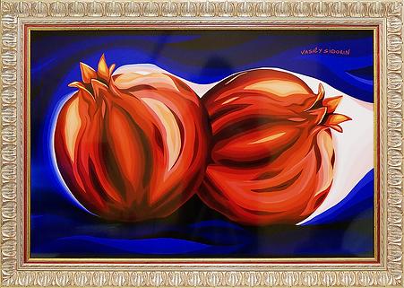 Гранаты | фрукты | Василий Сидорин | Vasily Sidorin | Still life | Натюрморт | art.vin | Artmagic | Артмагия